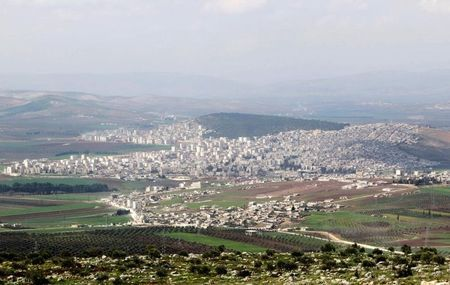 FILE PHOTO: A general view shows the Kurdish city of Afrin, in Aleppo's countryside, Syria March 18, 2015. REUTERS/Mahmoud Hebbo/File Photo