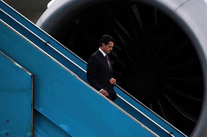 Mexico's President Enrique Pena Nieto, shown arriving for an economic summit in Vietnam on November 9, 2017, condemned the execution in Texas of one of his citizens