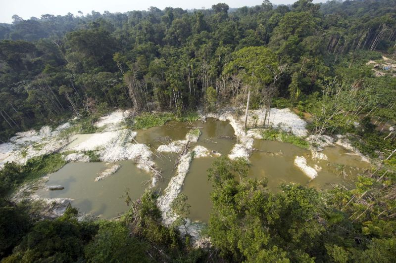 A clandestine gold mining operation in the Jamanxim National Forest of Brazil's Para state, a vast region where an American couple and their two daughters have gone missing
