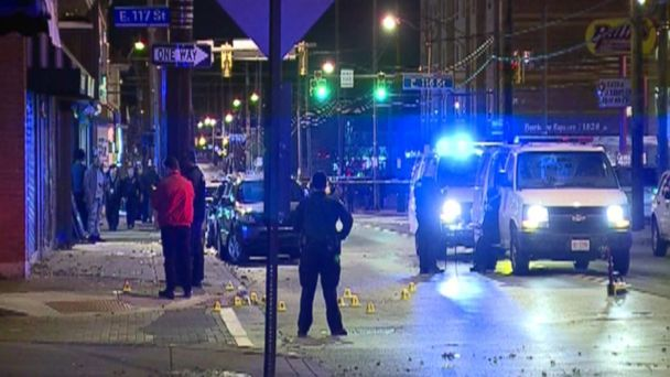 PHOTO: Police respond to a fatal shooting on a street in Cleveland, Ohio, Nov. 24, 2017. (WEWS-TV)