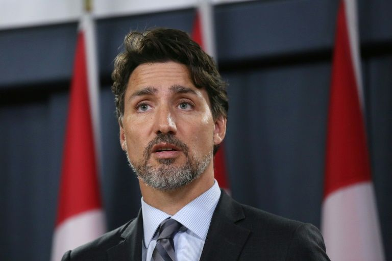 "Canadian Prime Minister Justin Trudeau (pictured January 11, 2020) said the tensions in Iran that caused a jetliner to be shot down were ""brought about by US actions"" (AFP Photo/Dave Chan)"